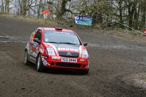 Patrick O'Brien & Aine McGuigan took the Junior honours on the Donegal Forest Rally