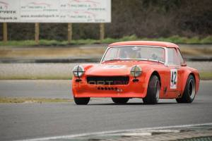 Stevie Griffin never gave up in his chase of Foley's V8. Image from autosportpics.com