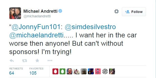 Andretti Tweet