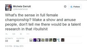 Michela Cerruti Tweet