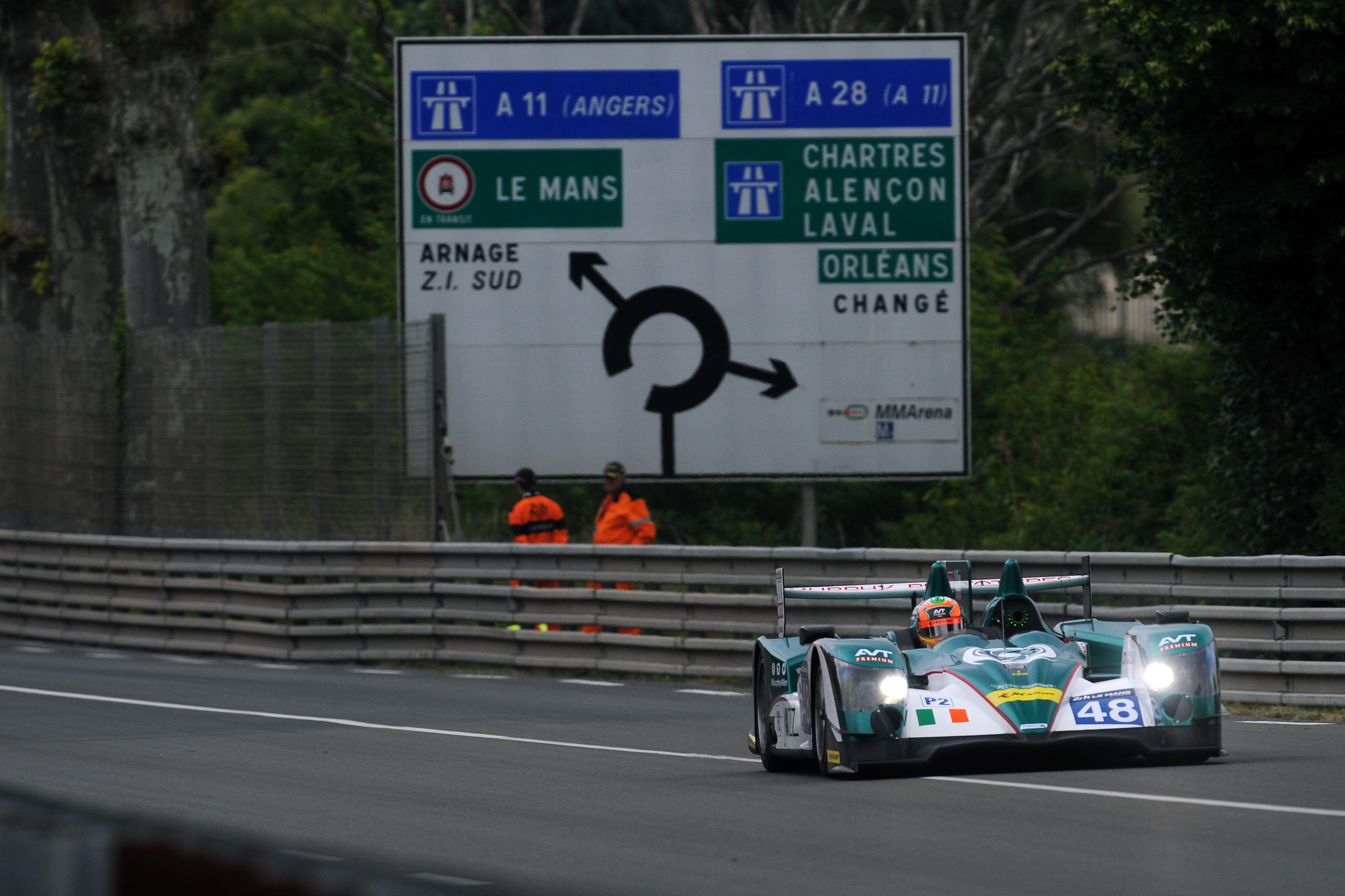 The morning runs started dry and all three murphy prototypes drivers karun chandhok mark patterson and nathana l berthon each took turns at the wheel of