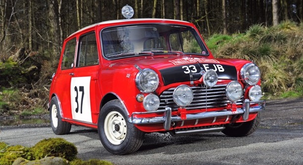 Paddy Hopkirk's 1964 Monte Carlo Rally winning Mini Cooper.....star of this year's Dalkey Vintage Festival!!
