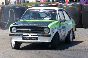 IMC Club Member  Sean Young and Shane Kenneally in their Mk2 Escort.
