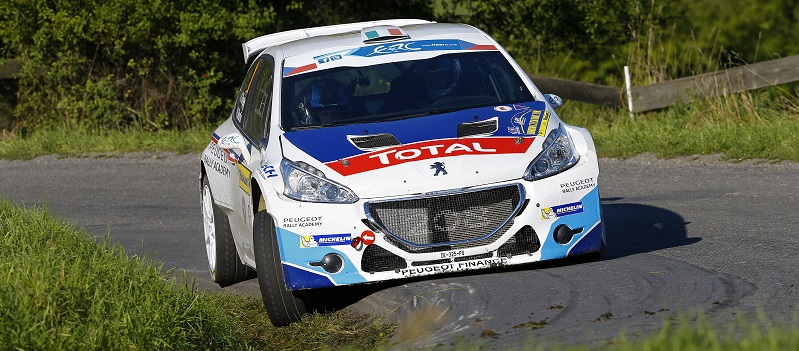 01 BREEN Craig, MARTIN Scott, PEUGEOT 208 T16, Action   during the 2014 European Rally Championship ERC Barum rally,  from August 29 to 31st, at Zlin, Czech Republic. Photo Frederic Le Floc'h / DPPI