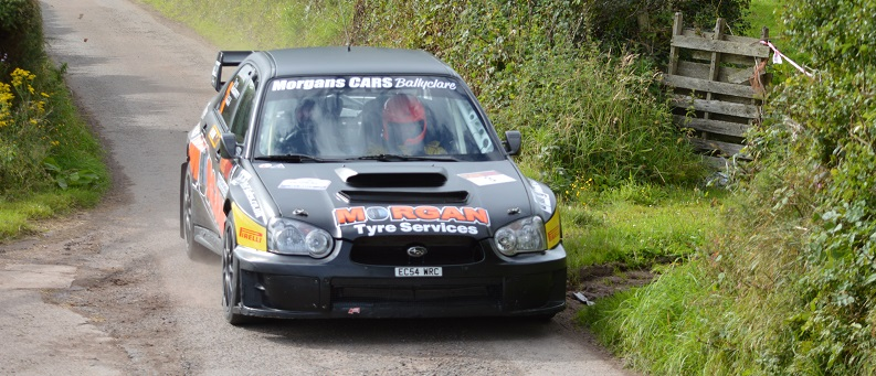 Derek McGarrity still leads the  McGrady Insurance MSA ANICC NI Rally Championship