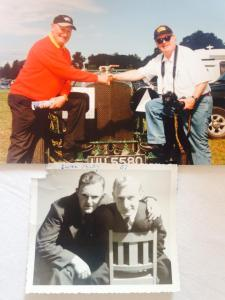 Brian with his good friend  Dougie Hughes in 1957- and again in 2000!