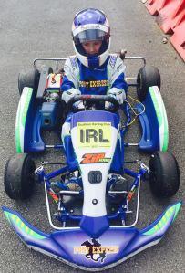 Alex Dunne in Kart IRL