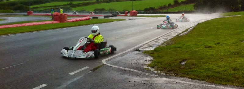 Bill Sherlock on his way to winning the KZ2 Final