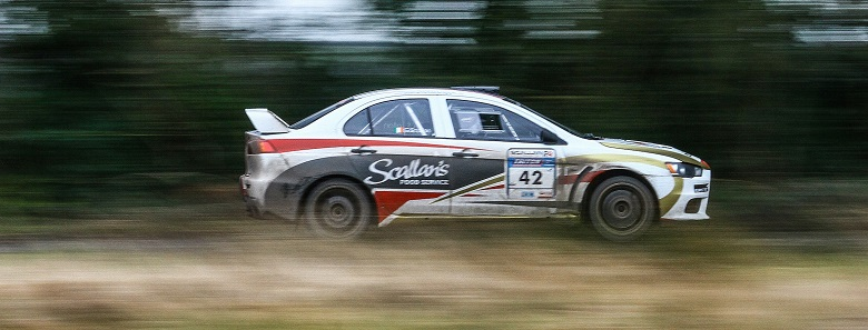 Wexford Motor Club member, Graham Scallan, in action in his Mitsubishi. Repro free image supplied by Sean Hassett