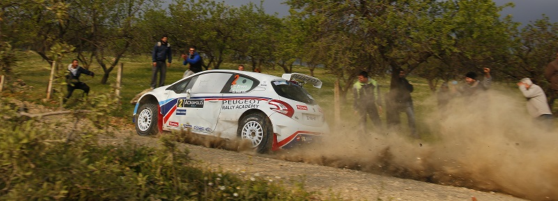 MOTORSPORT - EUROPEAN RALLY CHAMPIONSHIP 2014 - ACROPOLE RALLY OF GRECE - LOUTRAKI (GRE) 28/03 TO 30/03/2014 - PHOTO : FREDERIC LE FLOC'H / DPPI -  02 BREEN CRAIG / MARTIN SCOTT  - PEUGEOT 208 T16 R5 - ACTION