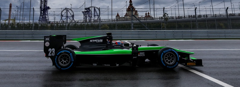 2015 GP2 Series Round 9. Sochi Autodrom, Sochi, Russia. Friday 9 October 2015. Richie Stanaway (NZL, Status Grand Prix). Photo: Zak Mauger/GP2 Series Media Service. ref: Digital Image _L0U6738