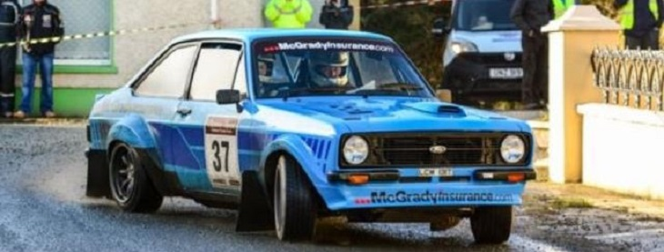 ANICC MSA NI Rally Championship Sponsor Fintan McGrady in action