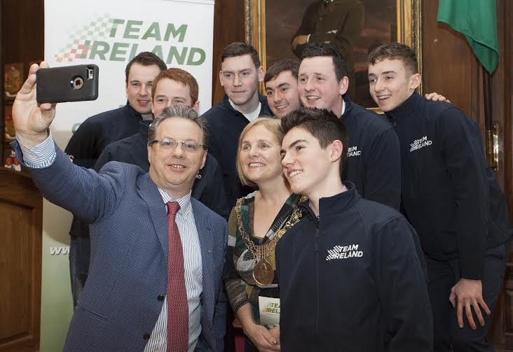 Having fun with John Campion as he takes a Selfie with me and my fellow Team Ireland members.