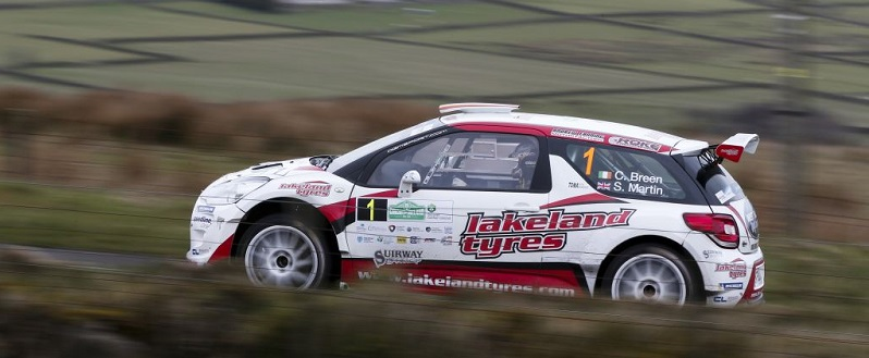 Craig Breen Scott Martin Circuit of Ireland Rally 2016