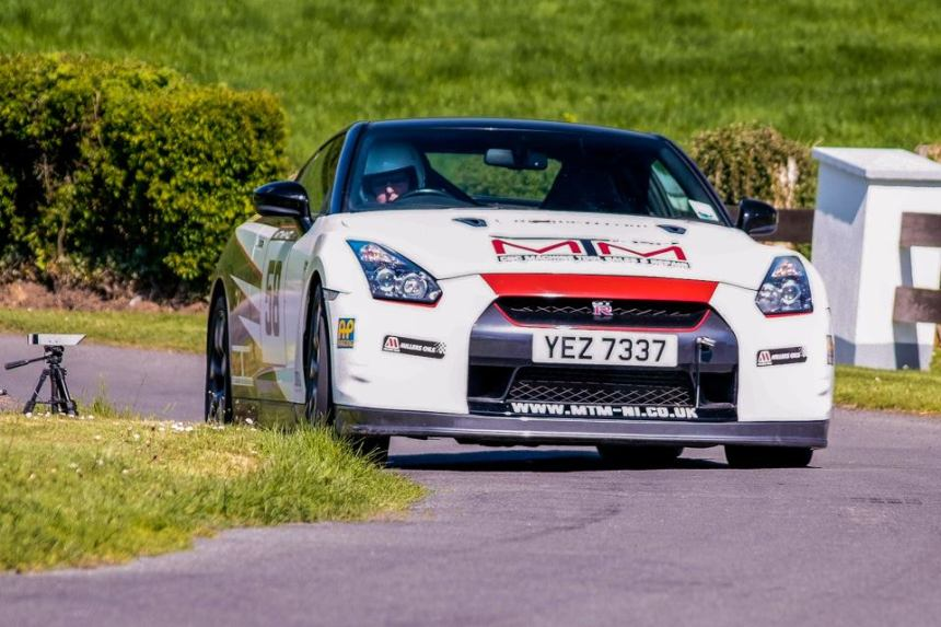 Ivan McCullough was second overall in his Nissan GTR. Image from George McNeill