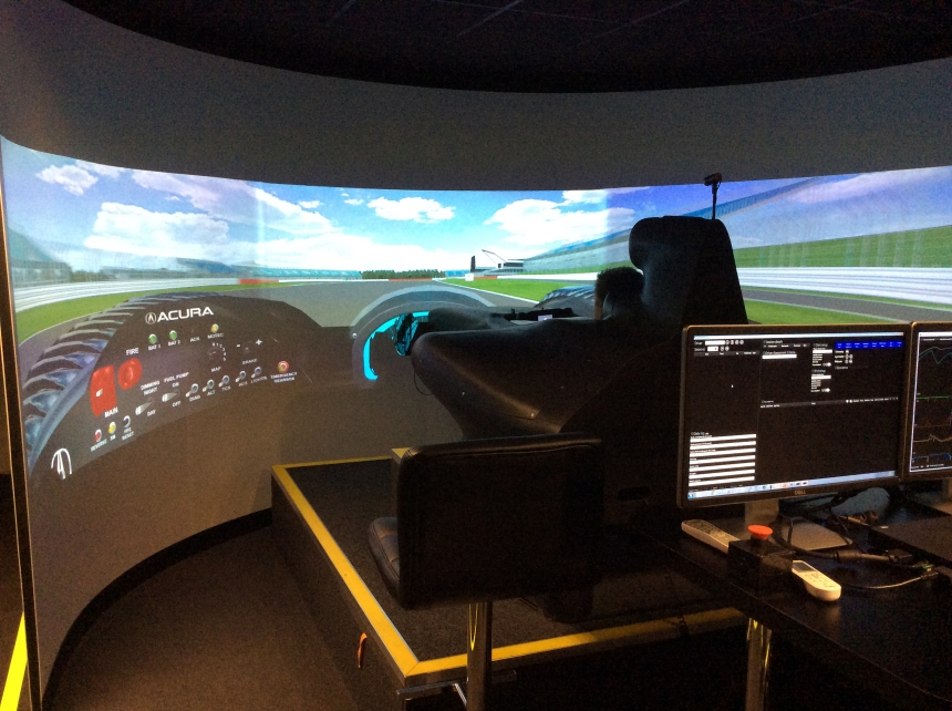 The Simulator at Izone- a new experience for me, but one which helped e immensely before my first LMP2 run.