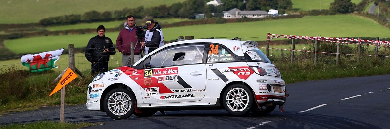 Rob Duggan and Ger Conway in action on the Isle of Man